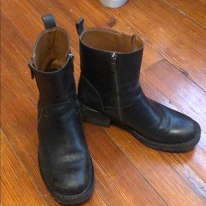Lucky Brand black short boots